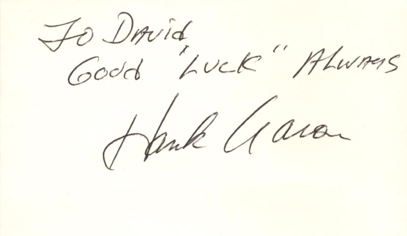 Image 1 for Hank Aaron - Autograph Note Signed - HFSID 89102