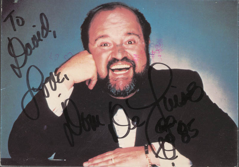 Image 1 for Dom Deluise - Autographed Inscribed Photograph 1985 - HFSID 89166