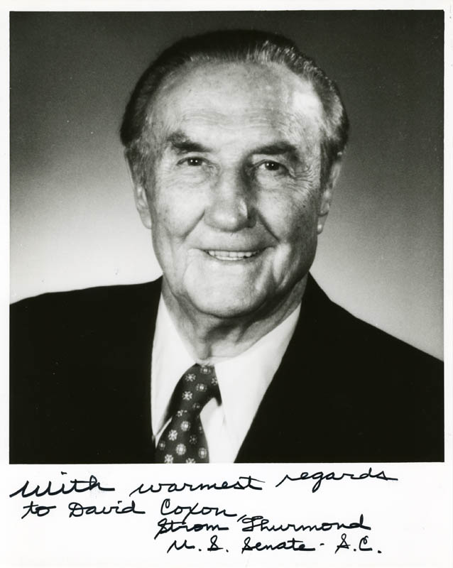 Image 1 for Strom Thurmond - Autographed Inscribed Photograph - HFSID 89230