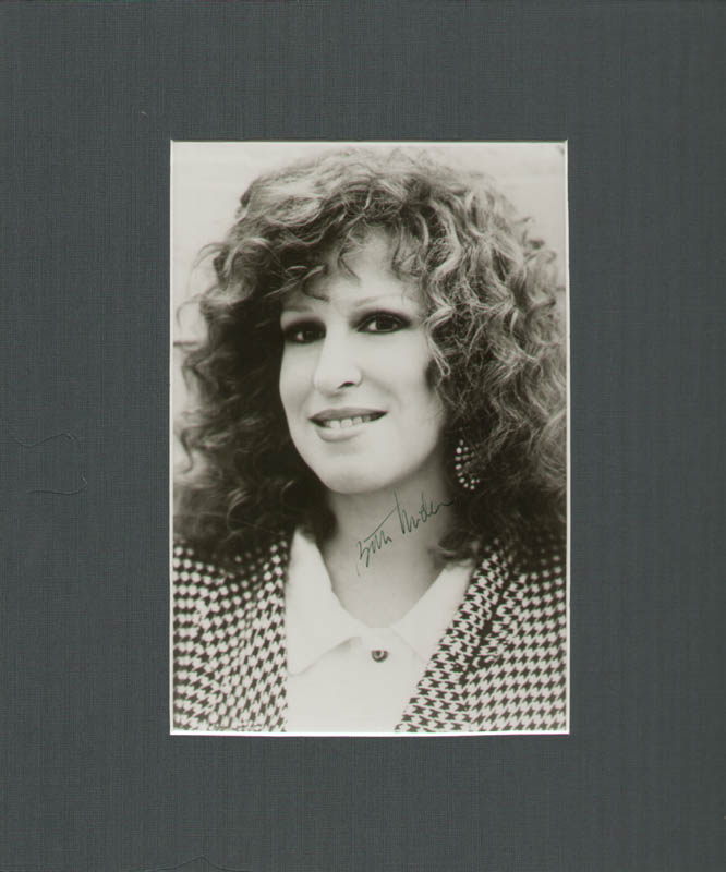 Image 1 for Bette Midler - Autographed Signed Photograph - HFSID 89262