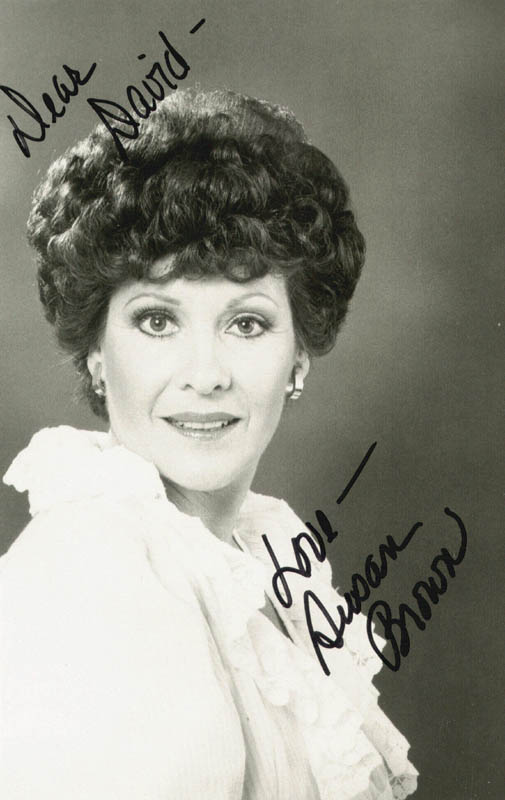 Image 1 for Susan Brown - Autographed Inscribed Photograph - HFSID 89393