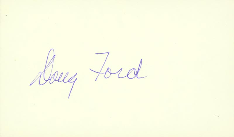 Image 1 for Doug Ford - Autograph - HFSID 89655