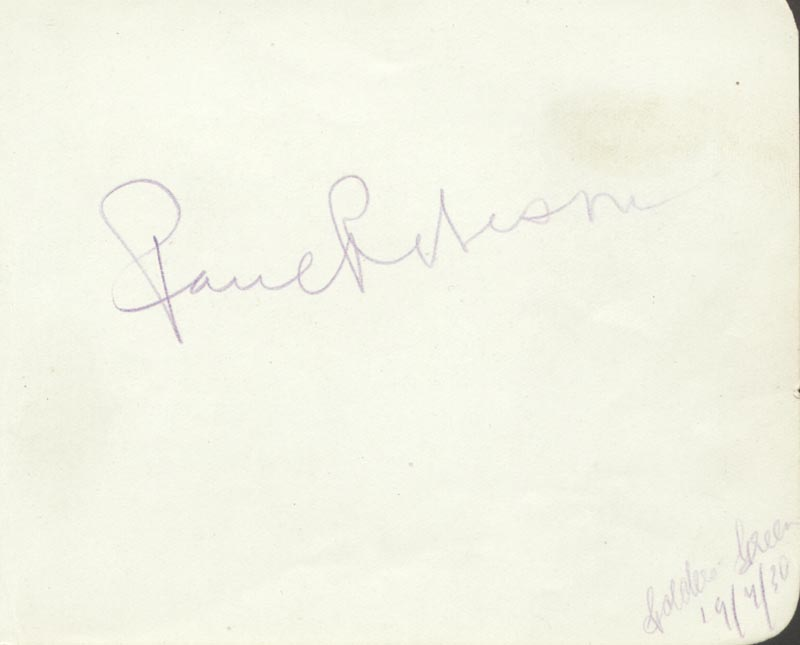 Image 1 for Paul L. Robeson - Autograph Circa 1930 - HFSID 89705