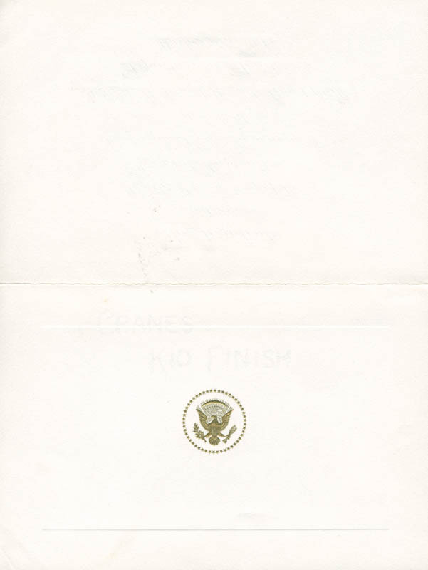 Image 1 for President Lyndon B. Johnson - Invitation Unsigned Circa 1965 - HFSID 9001723