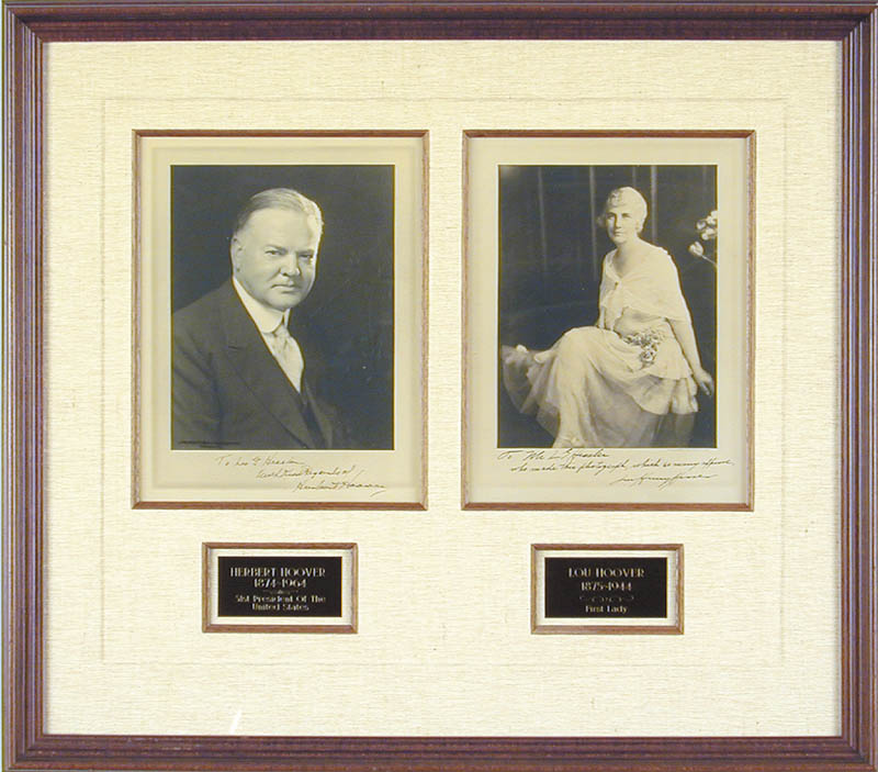 Image 1 for President Herbert Hoover - Collection with First Lady Lou Henry Hoover - HFSID 90057
