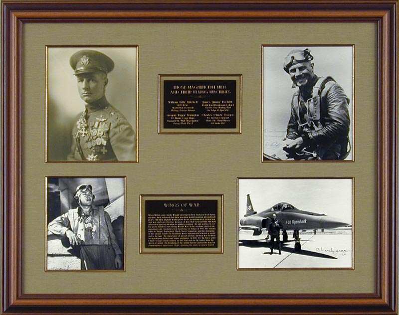 Image 1 for Major General William 'Billy' Mitchell - Collection with Colonel Greg 'Pappy' Boyington, Brigadier General James H. 'Jimmy' Doolittle, Brigadier General Chuck Yeager - HFSID 90154