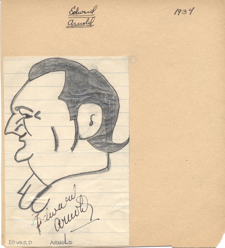 Image 1 for Edward Arnold - Caricature Signed Circa 1937 - HFSID 903