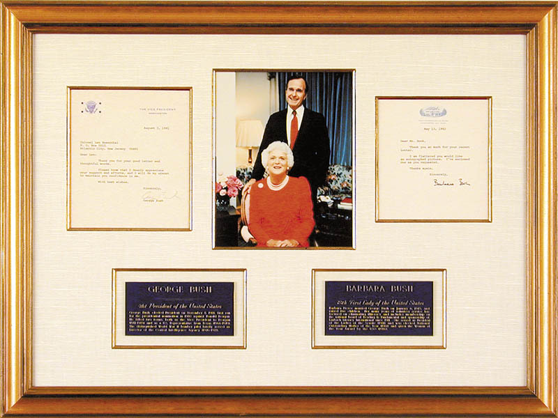 Image 1 for President George H.W. Bush - Collection with First Lady Barbara Bush - HFSID 90434