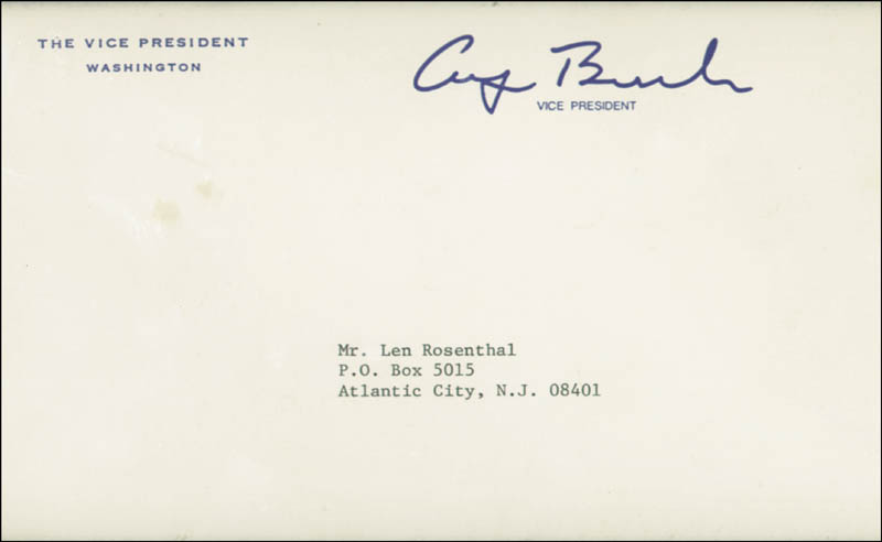 Image 5 for President George H.W. Bush - Collection with First Lady Barbara Bush - HFSID 90434