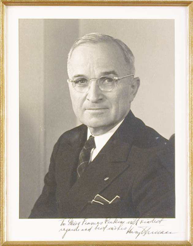 Image 3 for President Harry S Truman - Collection with First Lady Bess W. Truman - HFSID 90550