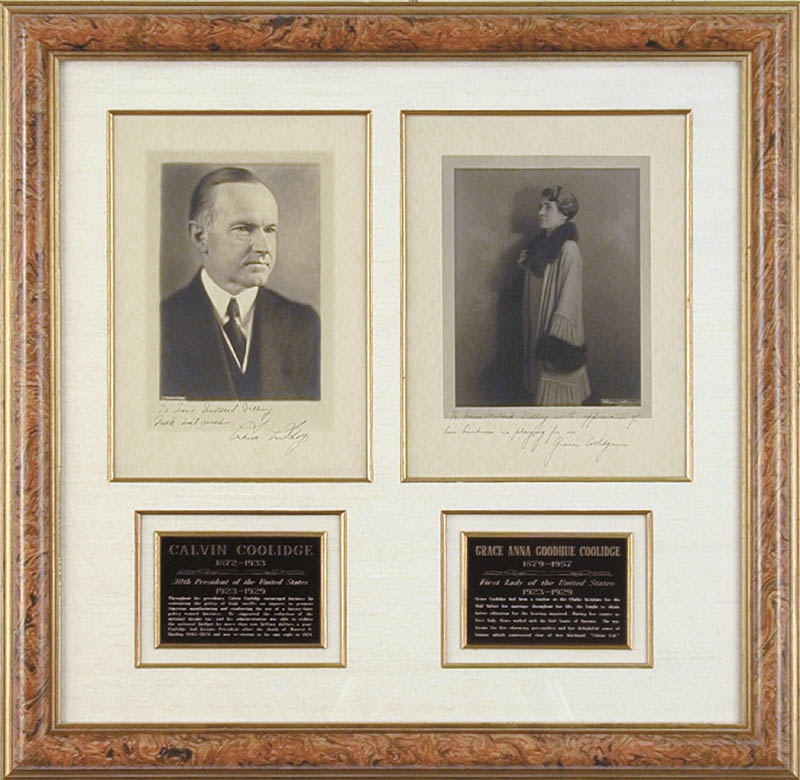 Image 1 for President Calvin Coolidge - Collection with First Lady Grace Coolidge - HFSID 90570