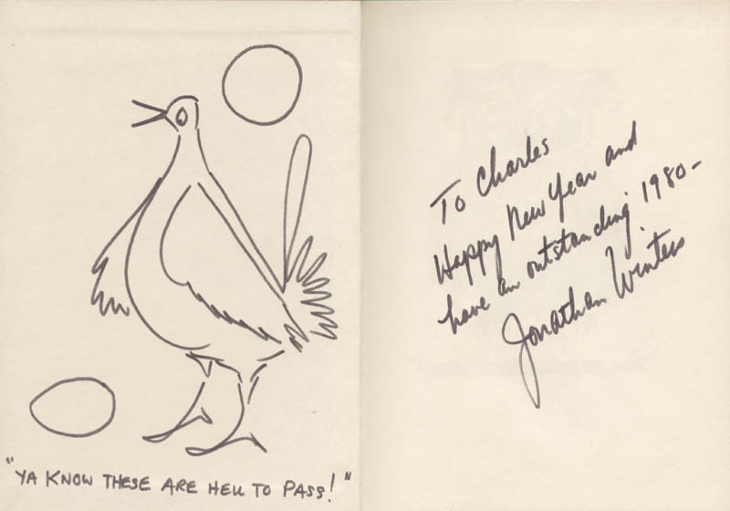 Image 1 for Jonathan Winters - Inscribed Original Art Signed 1980 - HFSID 9061