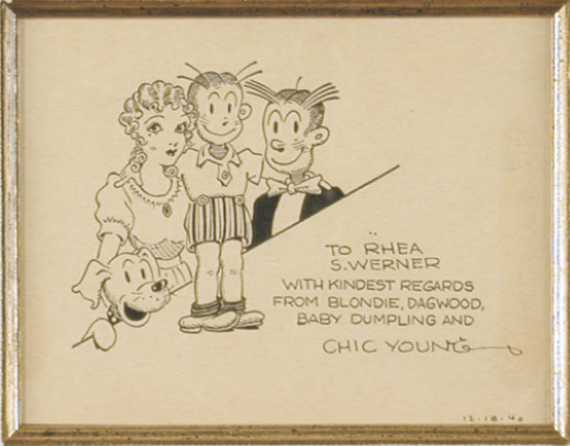 Image 6 for Chic Young - Collection with Johnny Hart, Hank Ketcham, Mort Walker, Tom Hatten, Walter Lantz - HFSID 90615