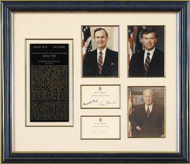 Image 1 for President George H.W. Bush - Collection with Vice President Dan (James Danforth) Quayle, President Gerald R. Ford - HFSID 90660