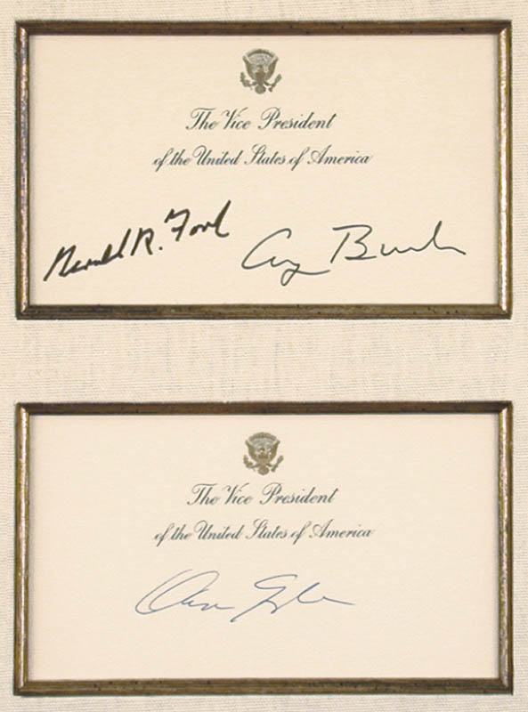 Image 3 for President George H.W. Bush - Collection with Vice President Dan (James Danforth) Quayle, President Gerald R. Ford - HFSID 90660