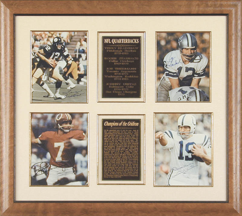 Image 1 for Joe Theismann - Collection with Terry Bradshaw, Johnny Unitas, Roger Staubach - HFSID 90772