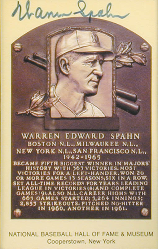 Image 3 for Warren Spahn - Collection - HFSID 90815