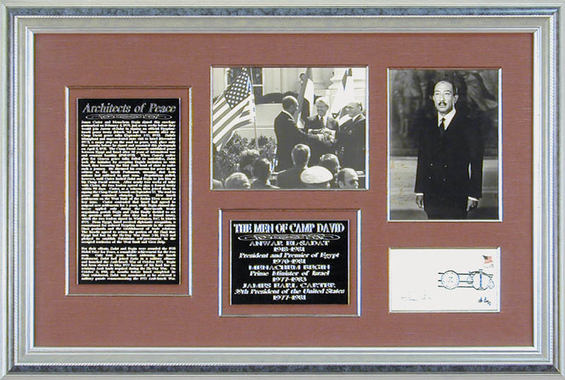 Image 1 for President James E. 'Jimmy' Carter - Collection with President Anwar Sadat (Egypt), Prime Minister Menachem Begin (Israel) - HFSID 90900