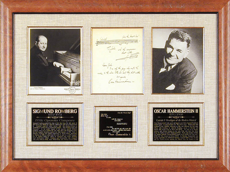 Image 1 for Sigmund Romberg - Collection with Oscar Hammerstein Ii - HFSID 91023