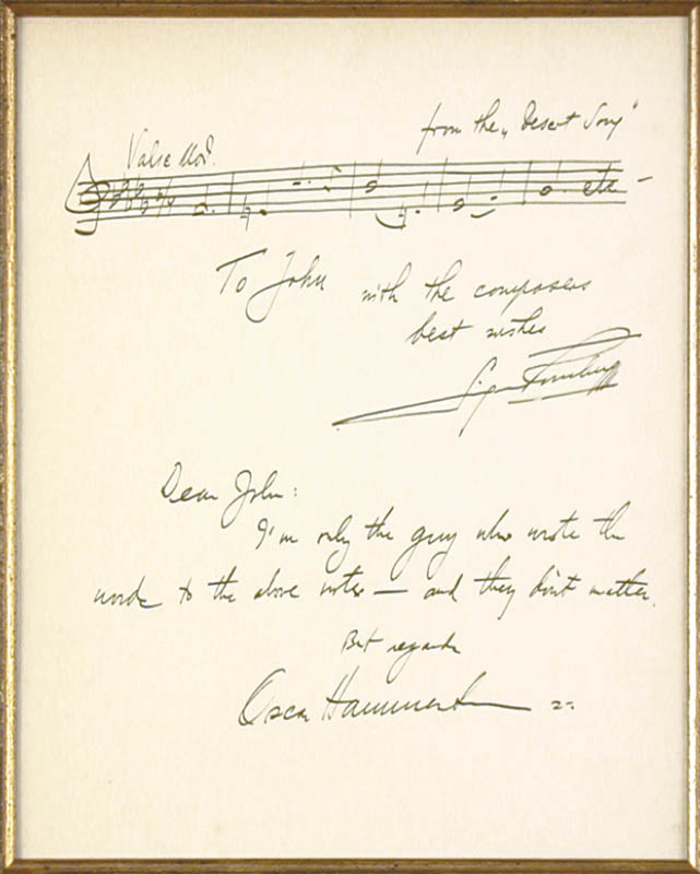 Image 4 for Sigmund Romberg - Collection with Oscar Hammerstein Ii - HFSID 91023