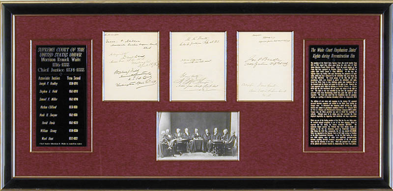 Image 1 for Chief Justice Morrison R. Waite - Collection with Nathan Clifford, William Strong, Samuel F. Miller, Joseph P. Bradley, David D. Davis, Stephen J. Field, Ward Hunt,  Noah H. Swayne - HFSID 91035