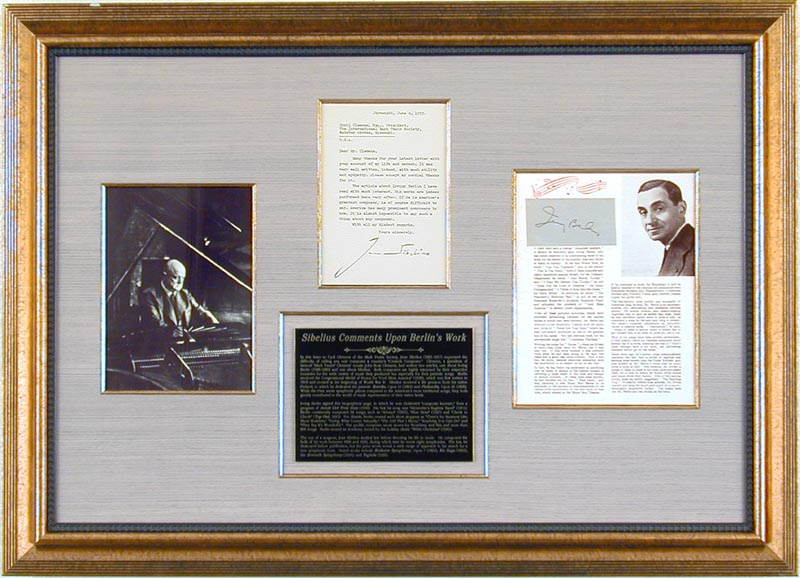 Image 1 for Jean Sibelius - Collection with Irving Berlin - HFSID 91240