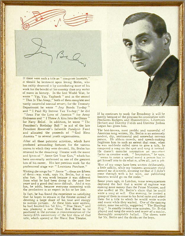 Image 3 for Jean Sibelius - Collection with Irving Berlin - HFSID 91240