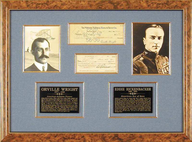 Image 1 for Orville Wright - Collection co-signed by:captain Edward V. 'Eddie' Rickenbacker - HFSID 91403