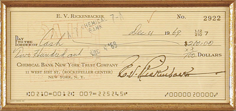 Image 4 for Orville Wright - Collection co-signed by:captain Edward V. 'Eddie' Rickenbacker - HFSID 91403