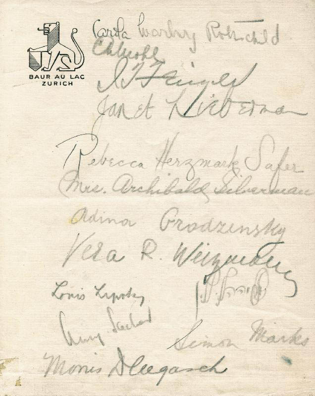 Image 1 for The Zionist Congress - Collection with Meir Dizengoff, Carola W. Rothschild, Janet Lieberman, Rebecca H. Safer, Vera R. (Mrs. Chaim) Weizmann, Ida (Mrs. Archibald) Silverman, Adinor Grodsensky, Louis Lipsky And Others - HFSID 91569