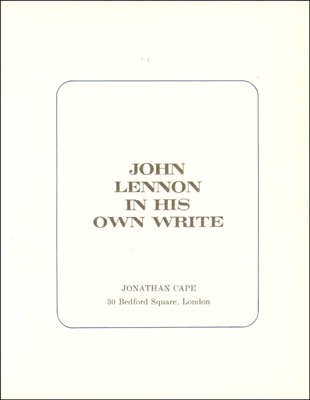 Image 3 for The Beatles (John Lennon) - Book Unsigned - HFSID 9199