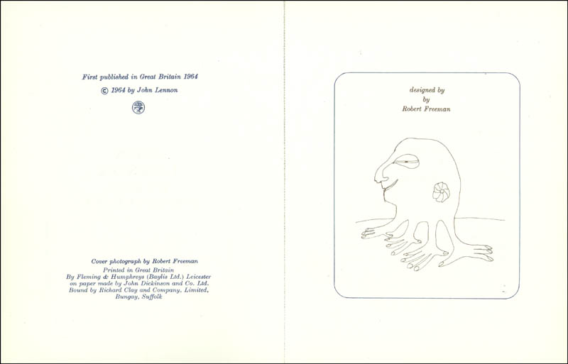 Image 4 for The Beatles (John Lennon) - Book Unsigned - HFSID 9199