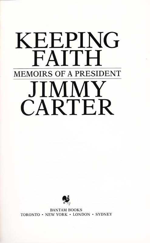 Image 3 for President James E. 'Jimmy' Carter - Book Signed - HFSID 9255