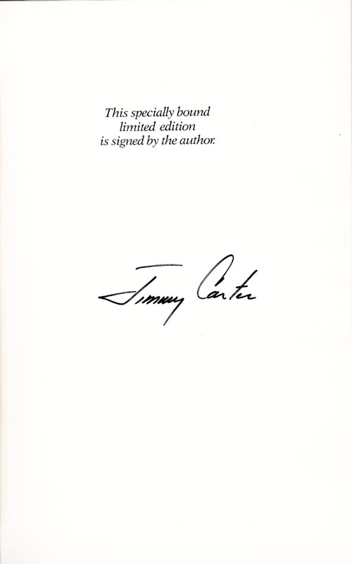 Image 5 for President James E. 'Jimmy' Carter - Book Signed - HFSID 9255