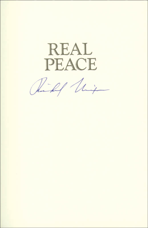 Image 1 for President Richard M. Nixon - Book Signed - HFSID 9336