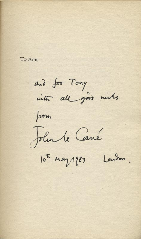Image 1 for John Le Carre - Inscribed Book Signed 05/10/1983 - HFSID 9352