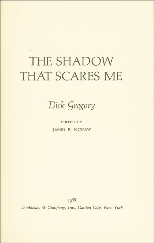 Image 3 for Dick Gregory - Inscribed Book Signed - HFSID 9393