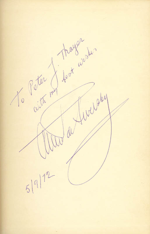 Image 1 for Alexander De Seversky - Inscribed Book Signed 09/05/1972 - HFSID 9442