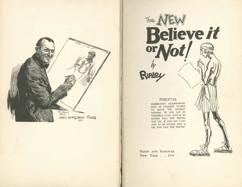 Image 4 for Robert 'Believe It Or Not!' Ripley - Inscribed Book Signed 1931 - HFSID 9703