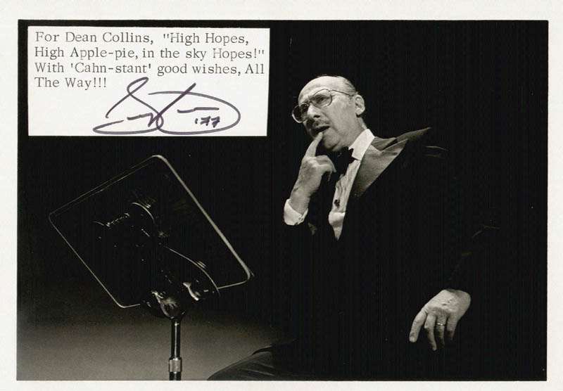 Image 1 for Sammy Cahn - Autographed Signed Photograph 1977 - HFSID 985