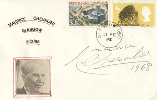 MAURICE CHEVALIER - ENVELOPE SIGNED 1968