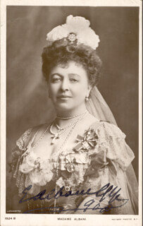 DAME EMMA ALBANI GYE - PICTURE POST CARD SIGNED 1908