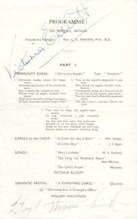 VICTORIA ELLIOTT - SHOW BILL SIGNED CO-SIGNED BY: LLOYD STRAUSS-SMITH