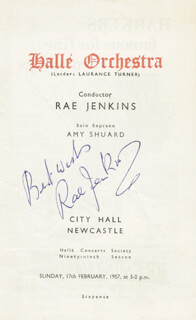 RAE JENKINS - SHOW BILL SIGNED 02/17/1957
