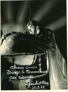 GIULIO NERI - AUTOGRAPHED SIGNED PHOTOGRAPH 08/31/1948
