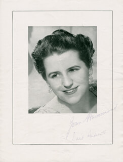 JOAN HAMMOND - PROGRAM SIGNED CIRCA 1951 CO-SIGNED BY: DAVID ANDREWS