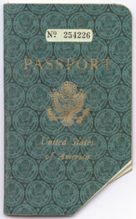 KING EDWARD VIII - PASSPORT SIGNED CIRCA 1950 CO-SIGNED BY: DUCHESS OF WINDSOR (WALLIS SIMPSON) , CESAR ROMERO, ELIZABETH LIZ TAYLOR