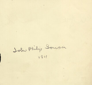 JOHN PHILIP THE MARCH KING SOUSA - AUTOGRAPH 1911 CO-SIGNED BY: HERBERT WALTON, ALFRED HOLLINS
