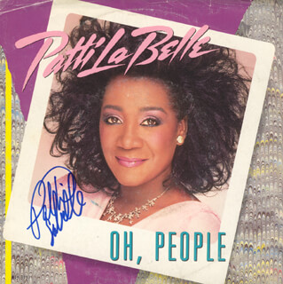 PATTI LABELLE - RECORD COVER SIGNED