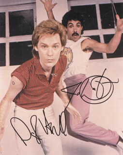 HALL & OATES - AUTOGRAPHED SIGNED PHOTOGRAPH CO-SIGNED BY: HALL & OATES (JOHN OATES), HALL & OATES (DARYL HALL)